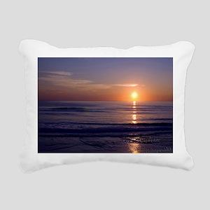Sunrise Over Atlantic Rectangular Canvas Pillow