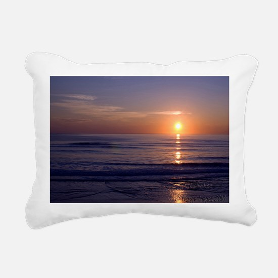 Sunrise Over Atlantic Rectangular Canvas Pillow