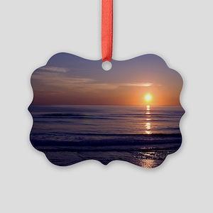 Sunrise Over Atlantic Picture Ornament