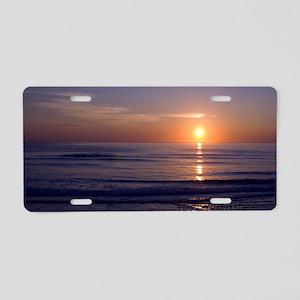 Sunrise Over Atlantic Aluminum License Plate
