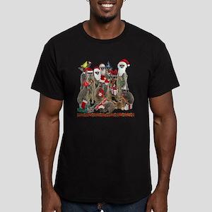 XmasMeerkats Men's Fitted T-Shirt (dark)