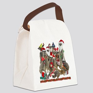 XmasMeerkats Canvas Lunch Bag