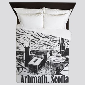 arbroath_woodcut2 Queen Duvet