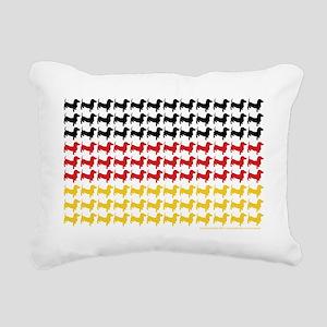 DOXIE-GERMAN-FLAG Rectangular Canvas Pillow
