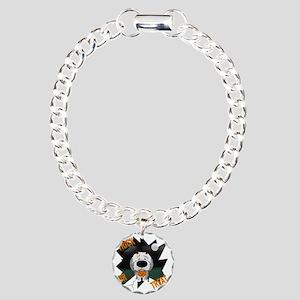 SheepdogHalloweenShirt1 Charm Bracelet, One Charm