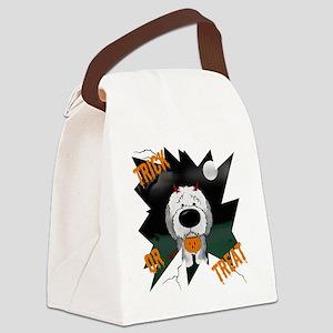SheepdogHalloweenShirt1 Canvas Lunch Bag