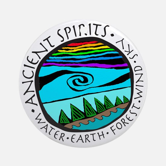 224bg AncientS Ocean  Round Ornament