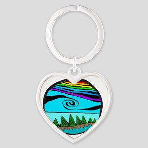 223wt AncientS ocean Heart Keychain