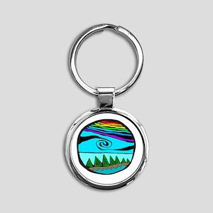 223wt AncientS ocean Round Keychain