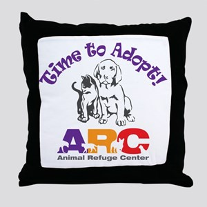 2-time_to_adopt Throw Pillow