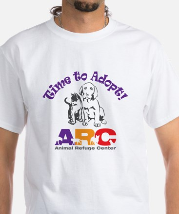 2-time_to_adopt White T-Shirt