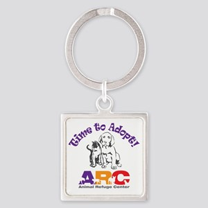 2-time_to_adopt Square Keychain