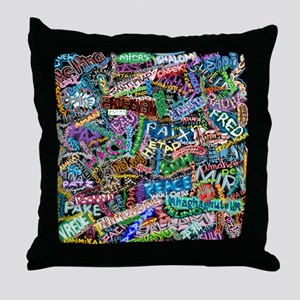 graffiti_peace_international Throw Pillow