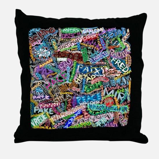 graffiti_peace_international Throw Pillow