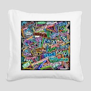 graffiti_peace_international Square Canvas Pillow
