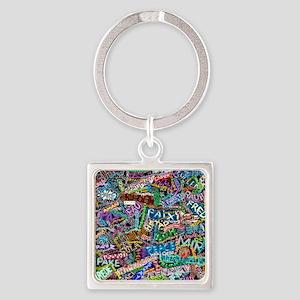 graffiti_peace_international Square Keychain