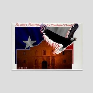 Alamo Rising Dark Rectangle Magnet