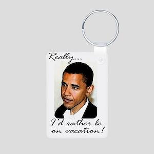 2-obama_vacation Aluminum Photo Keychain