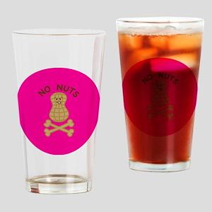 skullnutpinkbg Drinking Glass