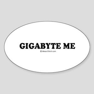 Gigabyte me Oval Sticker