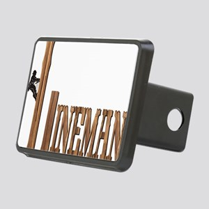 Lineman Wood Rectangular Hitch Cover