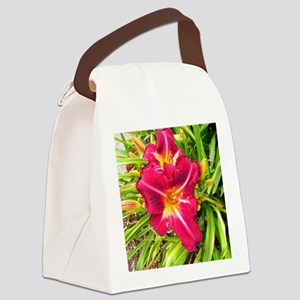 Daylily Canvas Lunch Bag