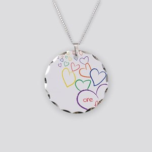 2Moms1FamilyHeartDesign Necklace Circle Charm