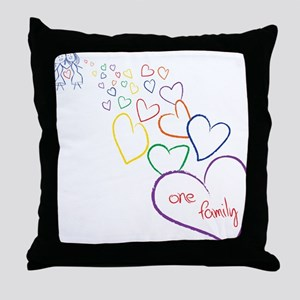 2Moms1FamilyHeartDesign Throw Pillow