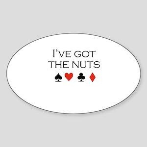 I've got the nuts / Poker Oval Sticker