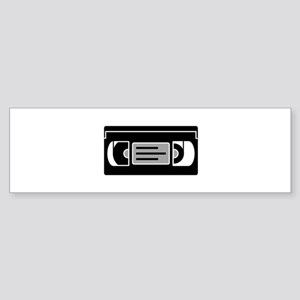 VHS Cassette Tape Bumper Sticker