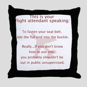 FASeatbelt Throw Pillow