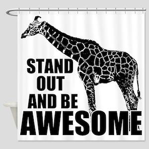 Awesome Giraffe Shower Curtain