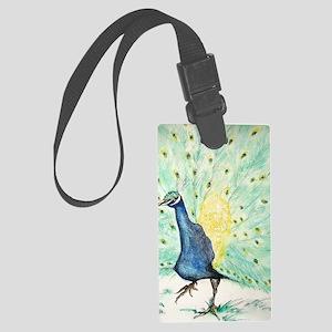 peacock Large Luggage Tag