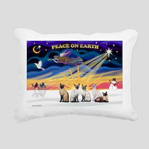 Xmas Sunrise - 5 Siamese Rectangular Canvas Pillow