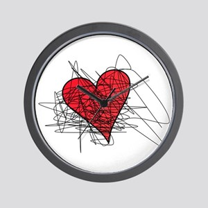 Erase Valentine's Day Wall Clock