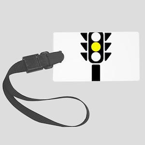 Yellow Light Stoplight Luggage Tag