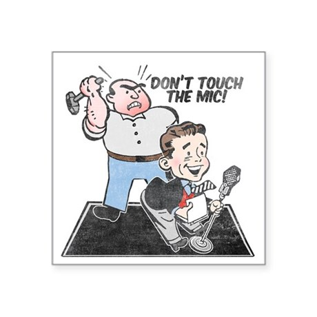 "dont-touch-distressed Square Sticker 3"" x 3"""