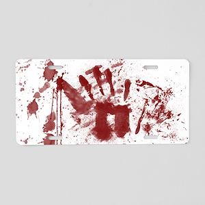 handprint Aluminum License Plate