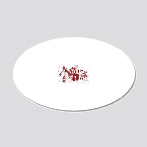 handprint 20x12 Oval Wall Decal