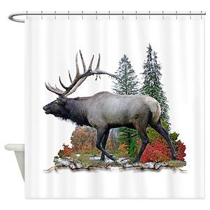 Black Elk Shower Curtains