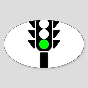 Green Light Stoplight Sticker