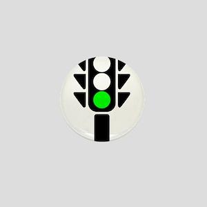 Green Light Stoplight Mini Button