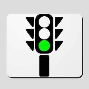 Green Light Stoplight Mousepad