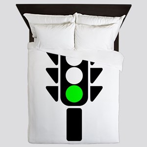 Green Light Stoplight Queen Duvet