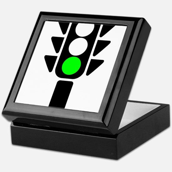 Green Light Stoplight Keepsake Box