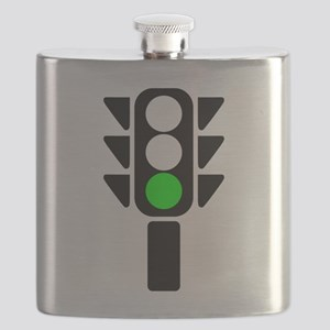 Green Light Stoplight Flask