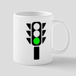 Green Light Stoplight Mugs