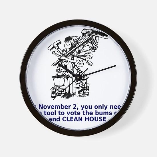 clean-house Wall Clock