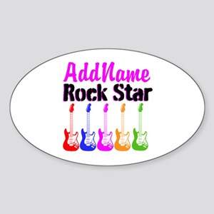 ROCK STAR Sticker (Oval)