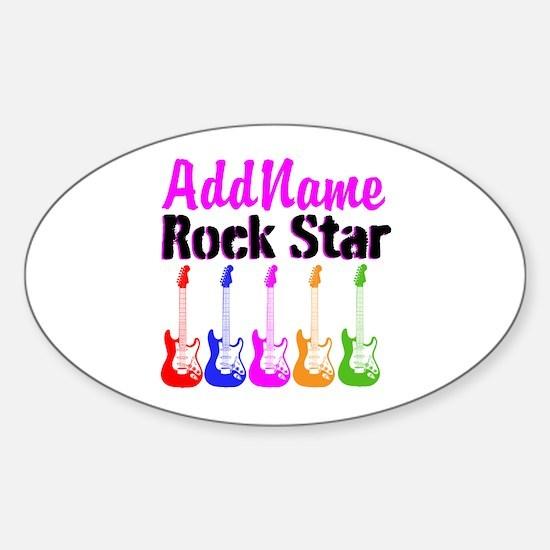 ROCK STAR Sticker (Oval)